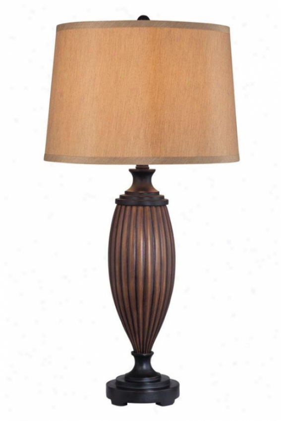 """doyle Table Lamp - 31.5""""h X 16""""w, Brown Wood"""