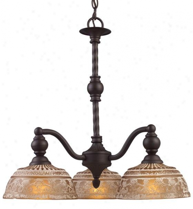 Dresden 3-light Chandelier - 3-light, Oiled Bronze