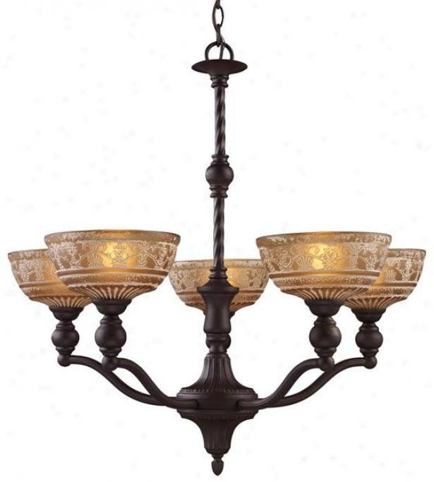 Dresden 5-light Chandelier - 5-light, Oiled Bronze
