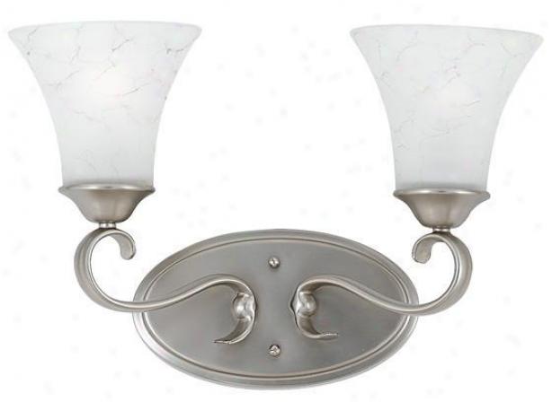 Duchess 2-light Vanity - 2 Light, Nickel