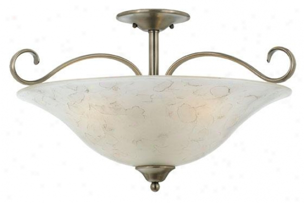 Duchess 3-light Flush Mount - 3-light/xl, Nickel