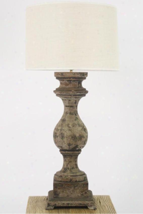 Duke Synopsis Lamp - 30hx9wx9d, Gray
