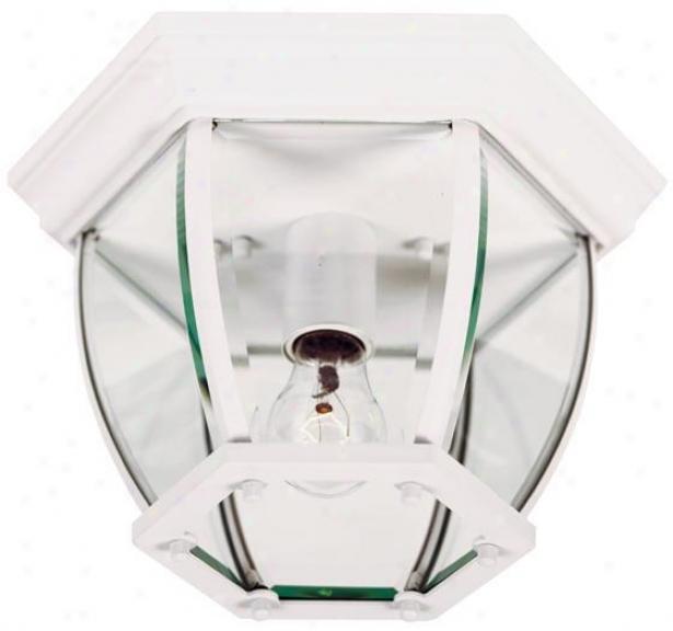 Dural 1-light Flushmount - Beveled Glass, Pure