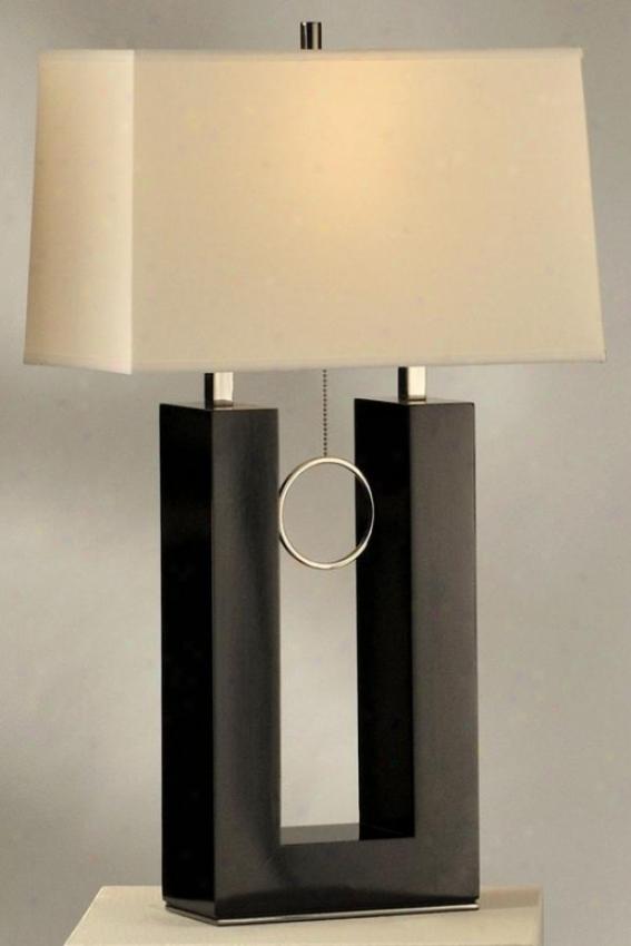 Earring Standing Table Lamp - Standiny, Black