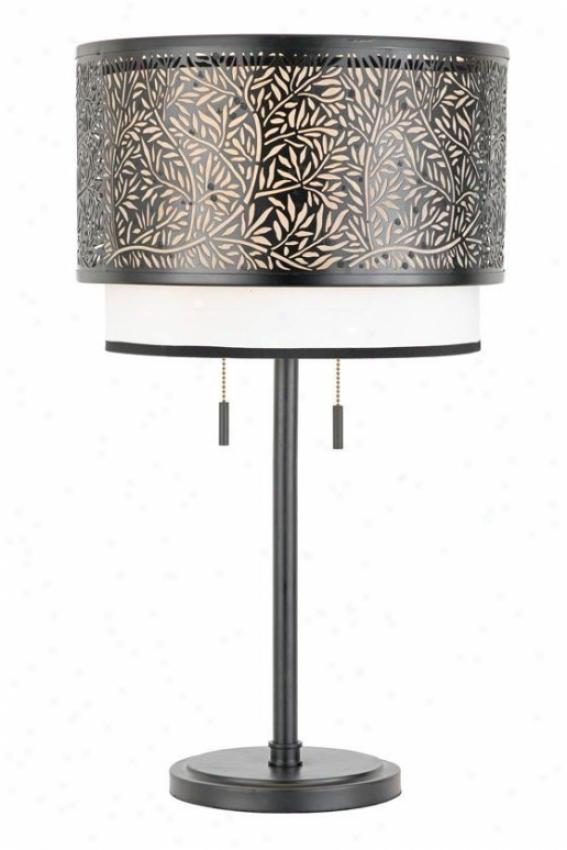 """eden Table Lamp - 26""""h, Black"""