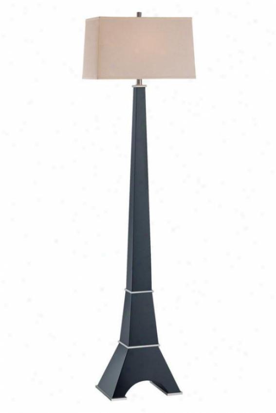 """eiffel Floor Lamp - 63h X 17""""w, Browb Wood"""