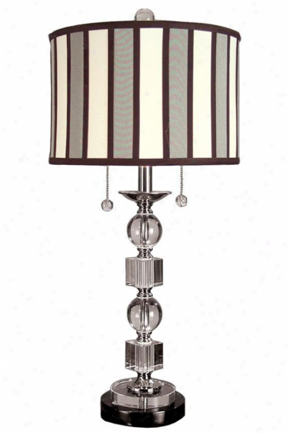 """electra 27.75""""h Table Lamp - 27.75h X 13.5""""d, White Nickel"""
