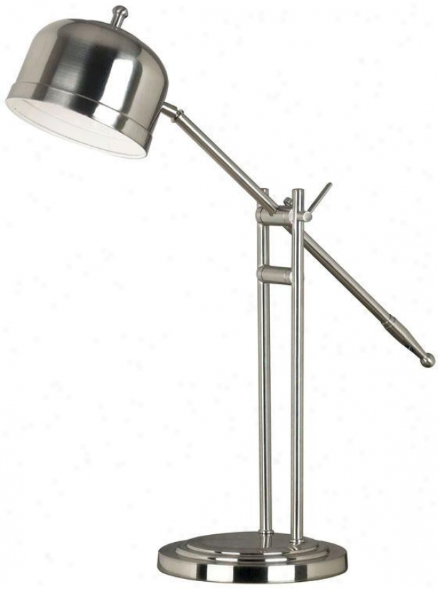 """eliot Table Lamp - 20""""-37""""h, Grey Steel"""