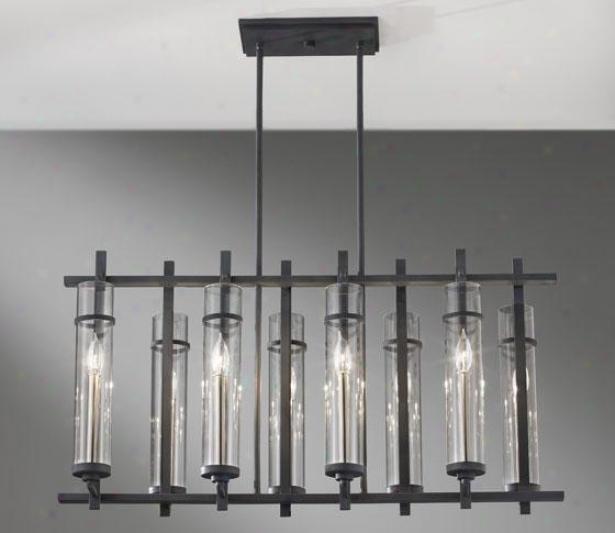 Ellis Mini Chandelier - Eight Light, Frg Irnbrs Stl