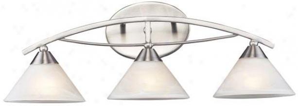 """""""ellison 25""""""""w Vanity - 3-light, Silver"""""""