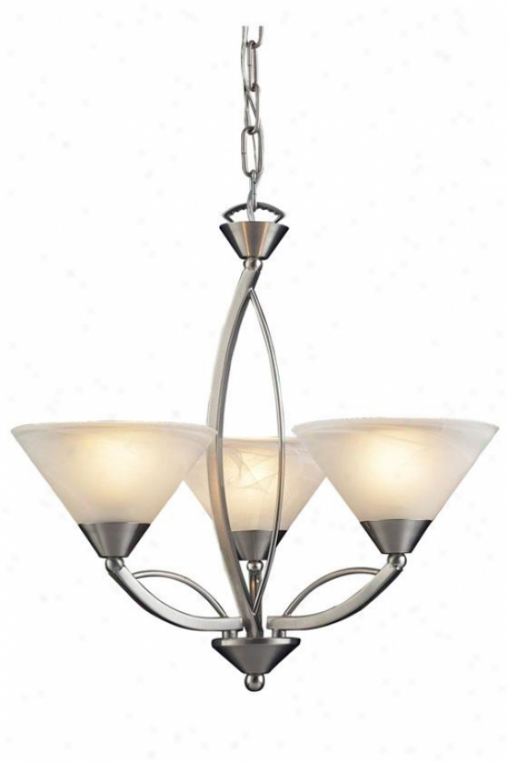 Ellison 3-light Chandelier - 3-light, Silver
