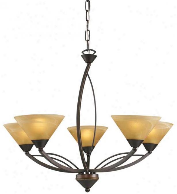 Ellison 5-light Up Chandelier - 5-light Up, Bronze Bronze