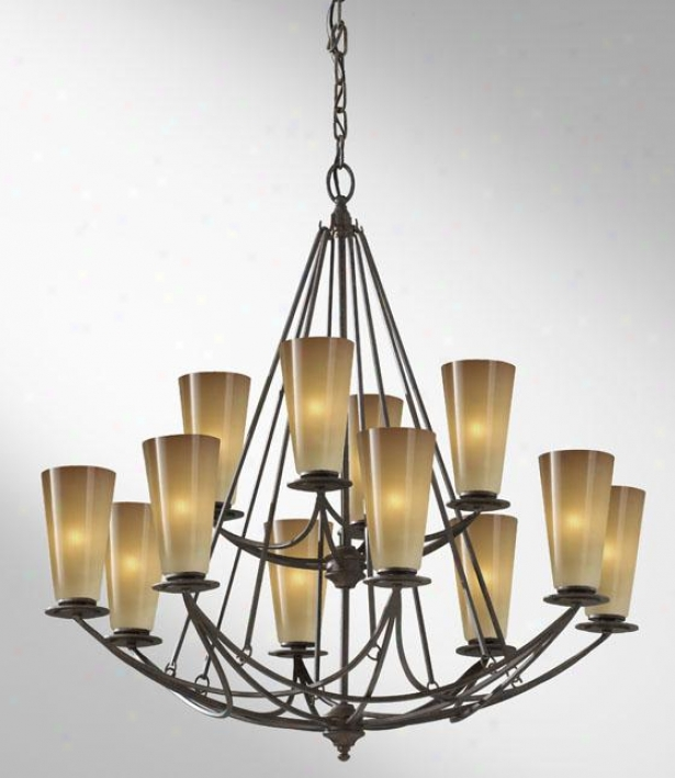 Elswotth Chandelier - Twelve Light, Mocha Bronze