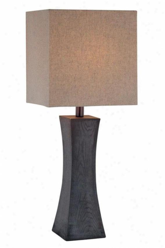 """""""enkel Table Lamp - 27""""""""h X 11""""""""w, Brown Wood"""""""