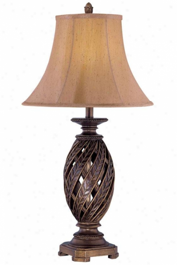 """estefania Table Lamp - 3.325""""h X 17""""w, Bronze"""