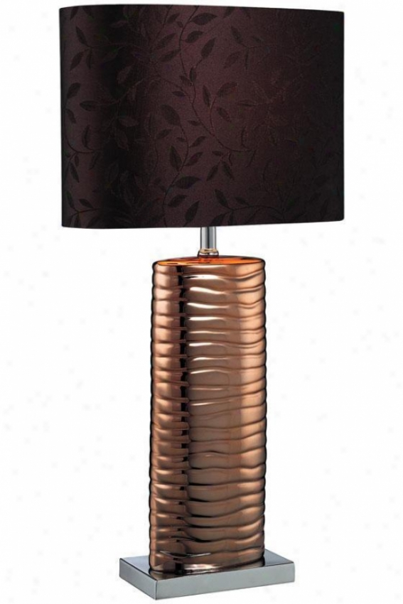 """fantino Table Lamp - 12.25""""x22.75"""", Copper"""