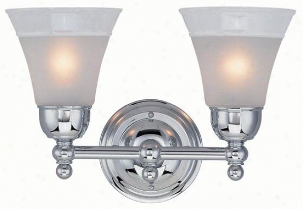 Faris Vanity Lighting - Two Light, Silver Chrome