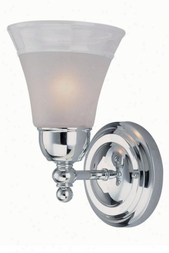 Faris Wall Sconce - One Light, Soft and clear  Chrome