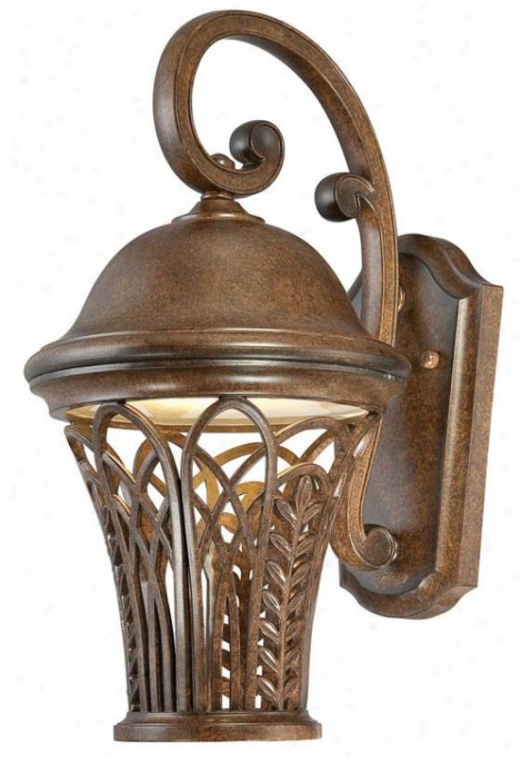 Farrah Outdoor Wall Lantern - Medium, Bronze