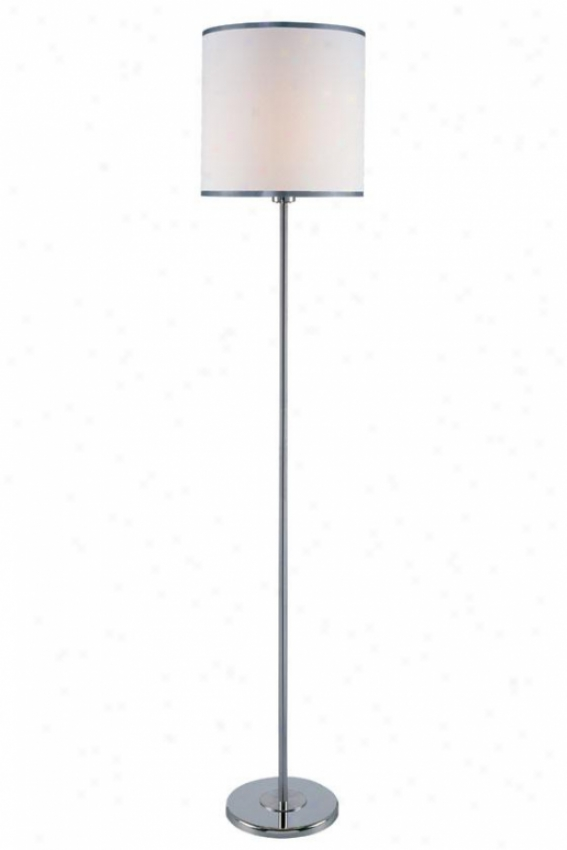 """fayola Floor Lamp - 60.75h X 11.85"""", White"""