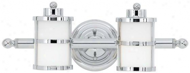 Feliicty 2-light Bathroom Vanity Light - 2-light, Steel Gray Chrome
