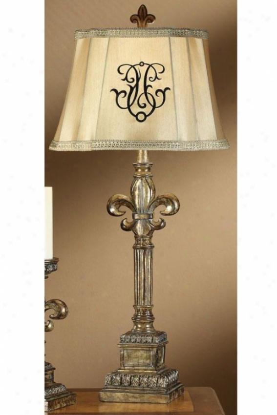 """""""fleur-de-lis Table Lamp - 33.25""""""""h, Silver Opulence"""""""