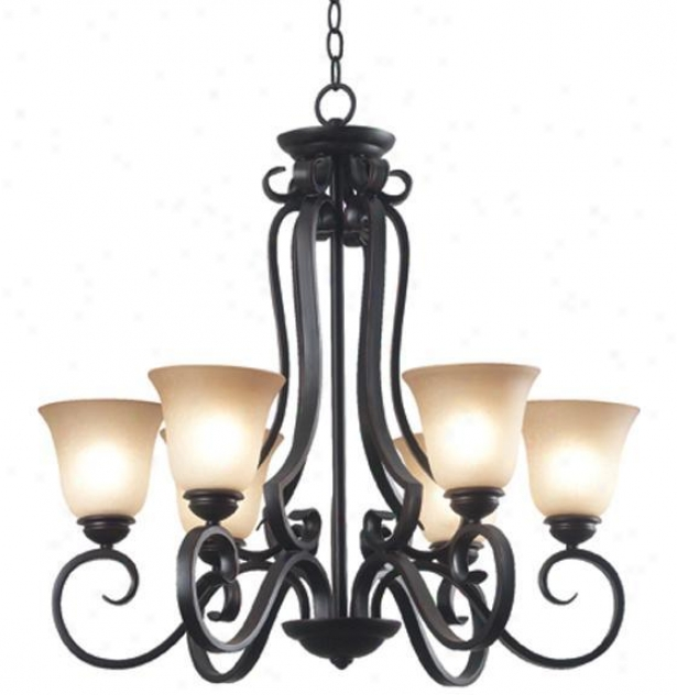 Flex 6-light Chandelier - Six-light, Copper Bronze