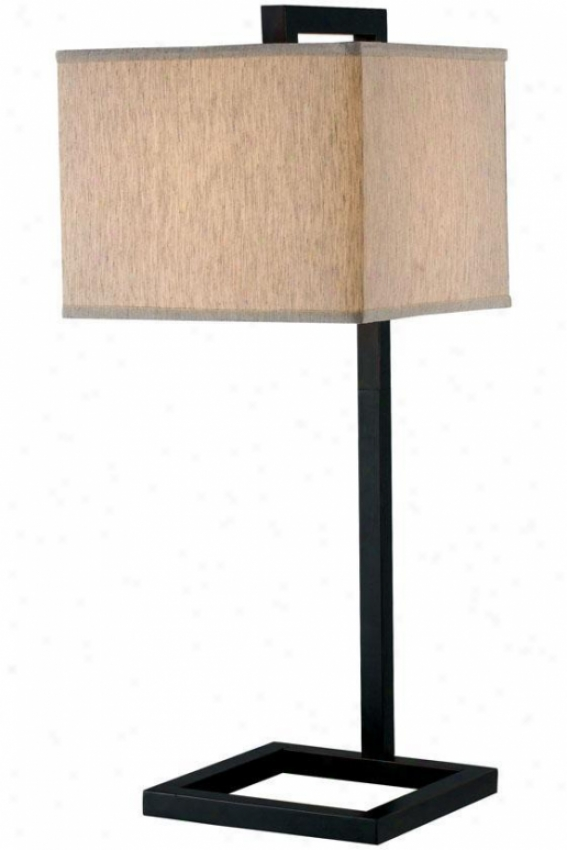 """""""four Square Table Lamp - 30""""""""h, Oil Rubbed Bronze"""""""