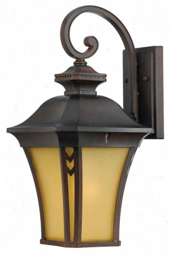 """gatehouse 21""""h Large Outdoor Wall Lantern - Large/21""""h, Coral"""