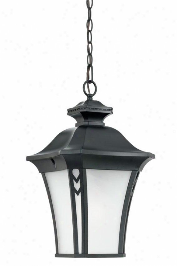 """gatehouse Outdoor Hanginng Lantern - 21""""h, Black"""