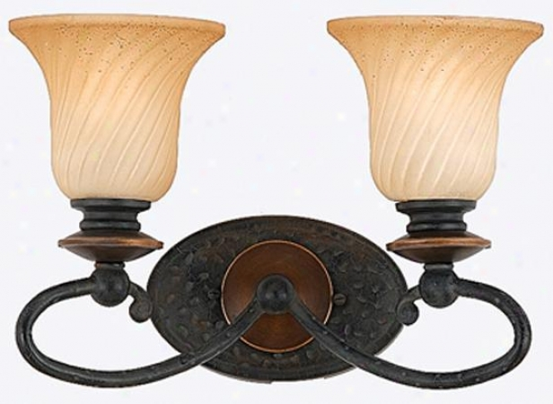 Genova 2-light Vanity - 2 Light, Stonehenge