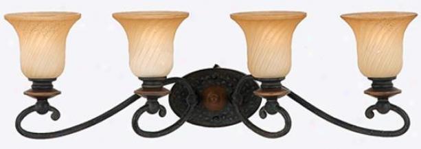 Genova 4-light Vanity - 4 Light, Stonehenge