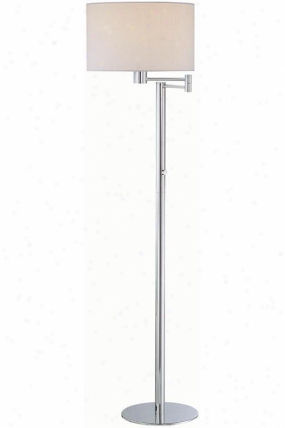 """gervasio Floor Lamp - 15.5""""x63.25"""", White"""