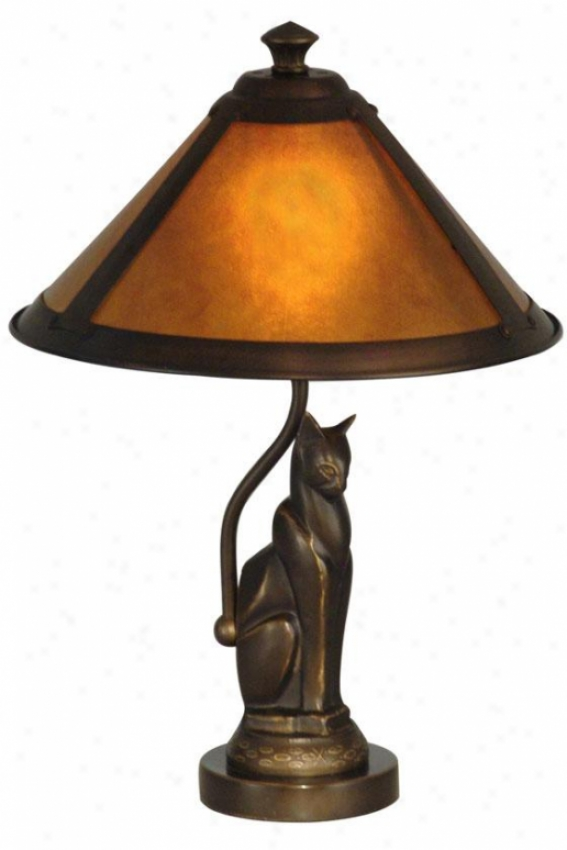 """ginger Mica Accent Lamp - 17h X 10""""d, Bronze"""
