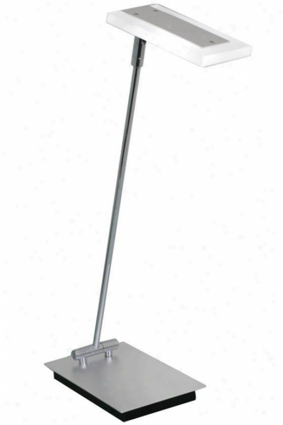 """gleam Led Desk Lamp - 4.75""""wx20""""h, Sjlver"""
