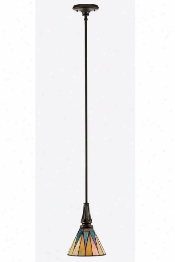 Gotham Tiffany-style Mini Pendant - 1-light/mini, Brown Bronze