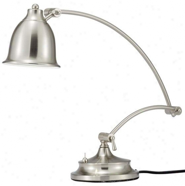 Graham Desk Lamp - 24hx6wx22d, Silver