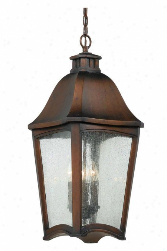 Gresham Outdoor Hanging Lantern - 4-light/xl, Burnished Cppr