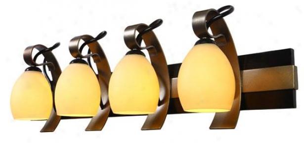 Grove Sconce - Four Light, Tan Opal