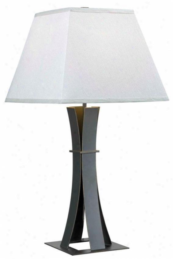 """guilder Slab Lamp - 30""""h X 14""""w, Brown"""