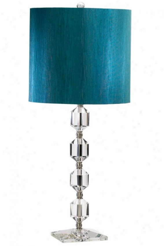 """hanover 12.25""""w Table Lamp - 28"""", Crystal/teal"""
