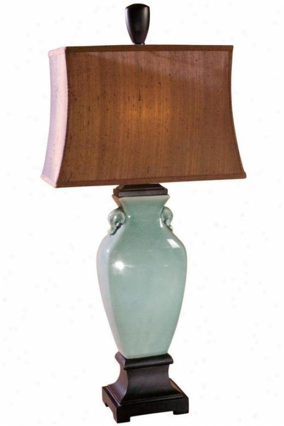 """hastin Flat Lamp - 35""""hx16""""w, Turquoise"""