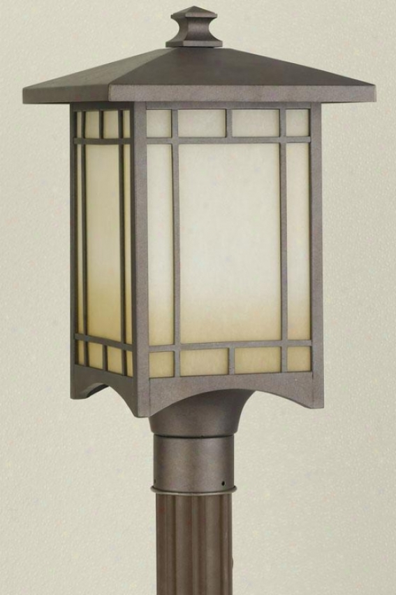 """jeritage Outdoor Lamp Post - 19""""u X 10.5""""w, Bronze"""