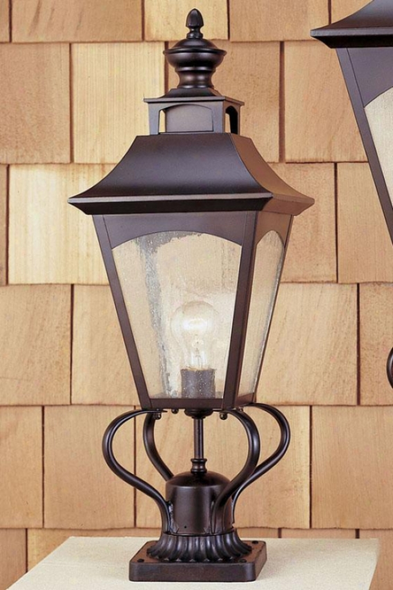 Hollington Outdoor Lamp Post - One Light, Oil Rub Bronze