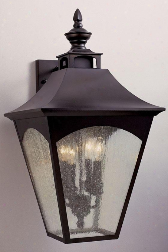 Hollington Outdoor Wall Lantern - Four Light, Oil Rub Bronze