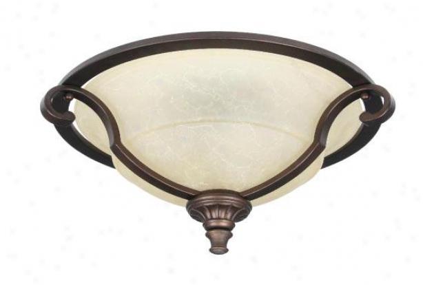 Home Decorators Collection Fairview Flush Mount - 2 Light, Bronze