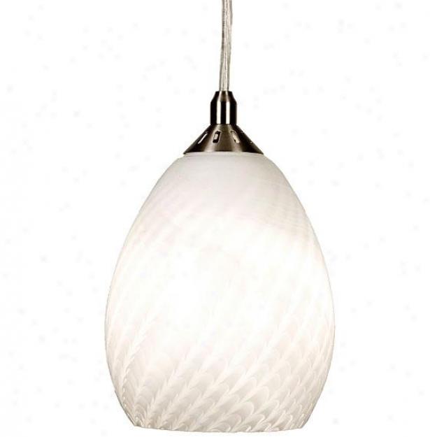 Home Decorators Collection Fishline Glass Mini Pendant - Medium 1 Light, Silver iNckel