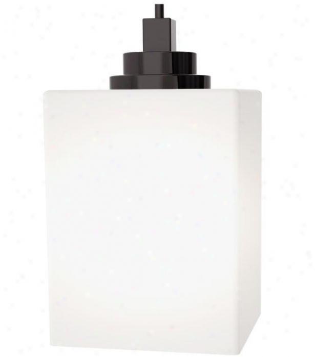 Home Decorators Collection Glass Cube Mini Pendant - Small 1 Light, Bronze