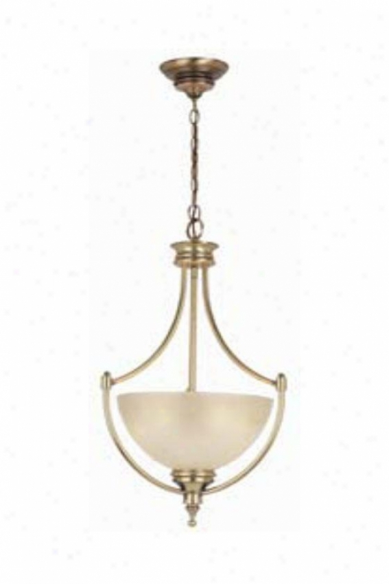 Home Decorators Cloection Keswick Pendant - 3 Light, Skirmish Brass