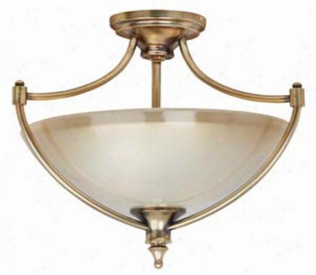 Hpme Deorators Collection Keswick Seki-flush Mount - 2 Light, Brush Assurance